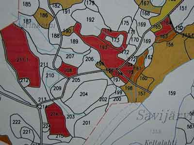 Kartta Evon Hakkuista